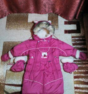 Конверт-комбинезон зимний для девочки