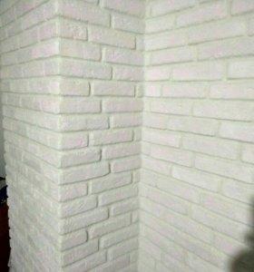 Декоративно-облицовочная плитка (гипсовая)белая