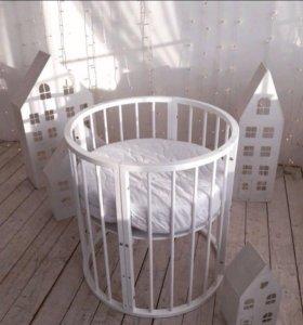 Новые круглые кроватки 7в1!!!!!! по супер цене!!!!