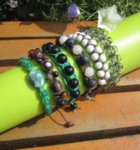 Оригинальные браслеты шамбала с камнями