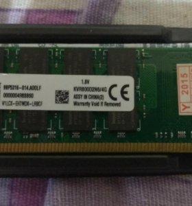 Оперативная память Kingston DDR2. 4 Гб.