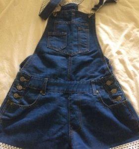 джинсовый комбез шорты