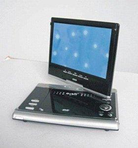 портативный DVD-плеер с телевизором
