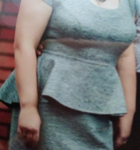 Серое платье 48-50р