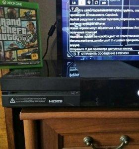 Xbox one 500гб + гта5.