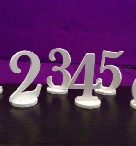 Цифры на стол. Нумерация столов. Номер стола.