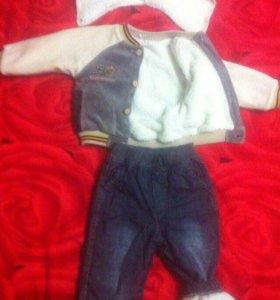 Курточка и утеплённые джинсы
