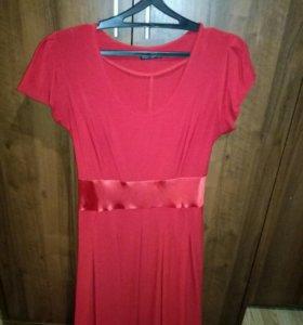 Платье красное, пиджак