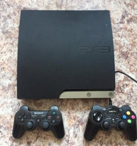 Playstation 3 250gb прошита 20 игр 2 геймпада