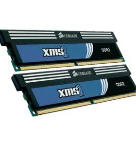 Комплект оперативной памити Corsair 4 гб DDR2