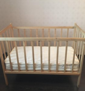 Детская кроватка+ матрас
