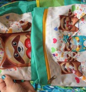 Новый школьный рюкзак для девочек.