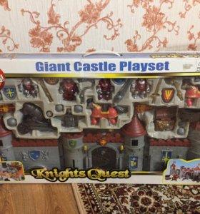 Игрушка замок, рыцари, рыцарский квест.