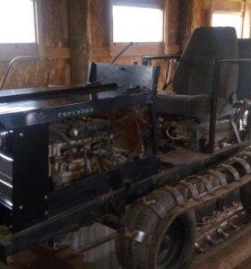самодельный трактор-бульдозер