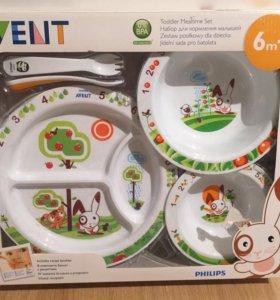 Набор детской посуды avent новый