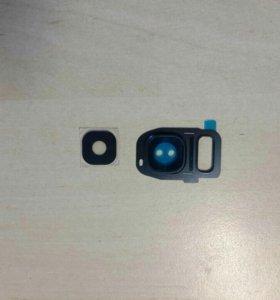 Глазок и стекло камеры для samsung s7 edge, черные