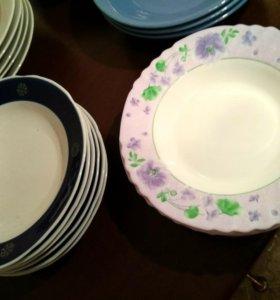 Глбокие тарелки фарфор