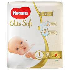 Подгузники Huggies Elite Soft 1 (до 5 кг), 84 шт