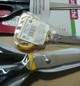 Ножницы взрослые и детские.
