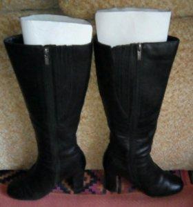 Женские кожаные сапоги.ТОРГ.