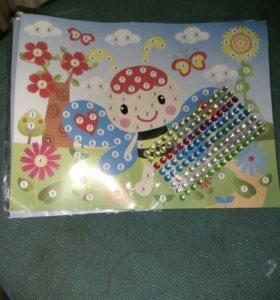 Детская картинка для различные выкладки стразами