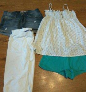 Пакет летних вещей на девочку 140- 146 рост.