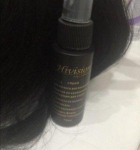 Термо волосы на заколках 55см черный цвет