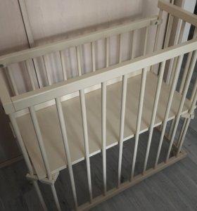 Детская приставная кроватка Можга+ матрасик
