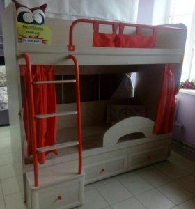 Детская 2-х этажная кровать