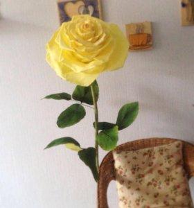 Ростовая роза из фоамирана