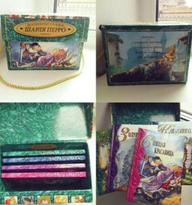 коробочка с книжками для детей(сказки Шарля Перро)