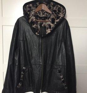 Кожаная куртка новая 52-54 р-р.