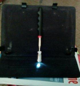 Телескопический фонарик-магнит
