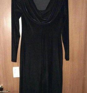 Платье бархатное вечернее новое
