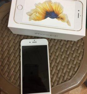 iPhone 6S золотой, идеал