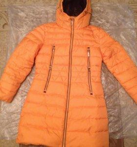 Пуховик оранжевый женский 50 размер