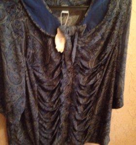 Новая блуза вискоза+ шифон