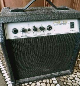 Басовый комбик, усилитель, гитара, звук