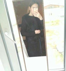 Пальто деми с искусственным мехом