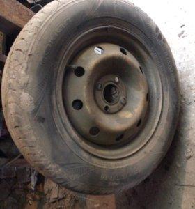 рено логан 4 колеса радиус 14 и 4 покрышки 15