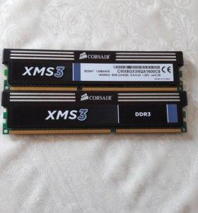 Оперативная память Corsair XMS3 DDR3 1600