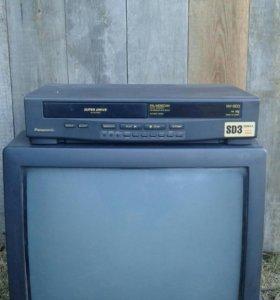 Видео двойка ( телевизор и видео магнитофон )