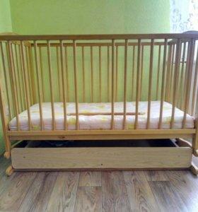 Кровать-качалка детская с матрацем