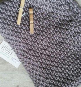 Вязаный шарф шапка берет снуд варежки митенки шаль