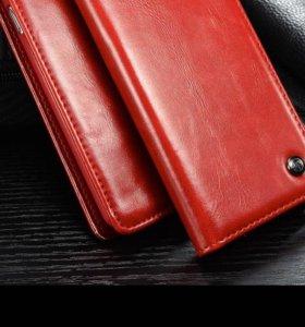 Чехол книжка на IPhone 6s кожа