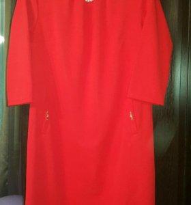 Платье красное, размер 50-52