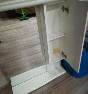 Ванный гарнитур (раковина+тумбочка+шкаф с зеркалом
