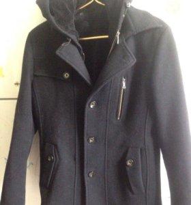 Драповая удлиненная куртка