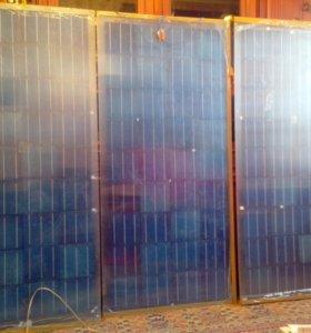солнечные самодельные панели - 3 шт по 100 ватт