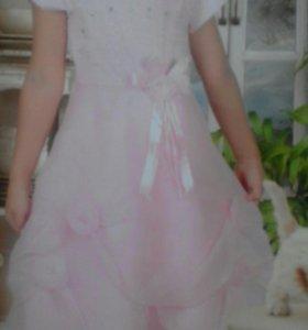 Платье.в подарок полушубок розовый
